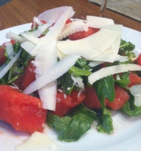 Watermelon & Arugula Salad